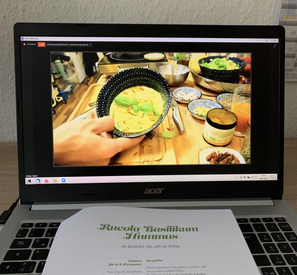 Kochevent mit Volker Mehl: Rucola-Basilikum-Hummus